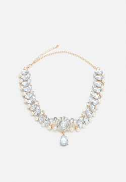 Pieces - PCMAURA NECKLACE - Necklace - gold-coloured/clear