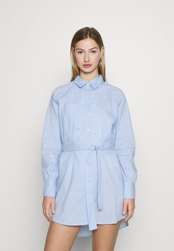 ONLY - ONLNESSA LOOSE SHIRT DRESS - Blusenkleid - granada sky/granada sky bright