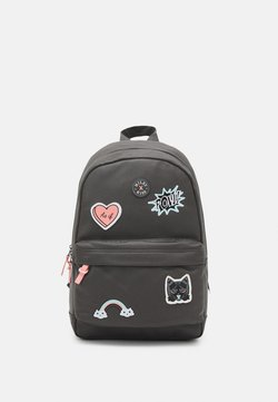 Kidzroom - BACKPACK MILKY KISS PATCH PERFECT UNISEX - Ryggsäck - grey