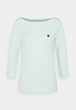 TOM TAILOR - STRIPE BOAT NECK - Langarmshirt - white/green