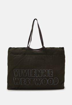 Vivienne Westwood - WORKER DRAWSTRING SHOPPER UNISEX - Shoppingväska - green