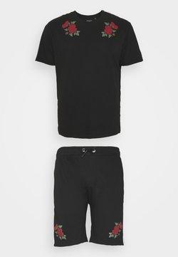 Brave Soul - ROSE SET - T-Shirt print - black