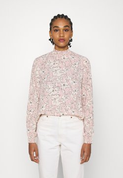 Vila - VIDOTTIES NEW SMOCK - Langarmshirt - misty rose/white