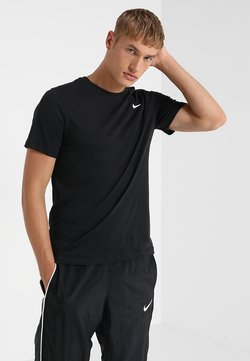 Nike Performance - DRY TEE CREW SOLID - T-shirt - bas - black/white