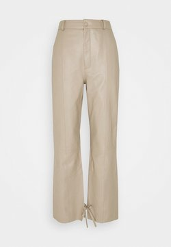 Gestuz - NIO - Leather trousers - pure cashmere