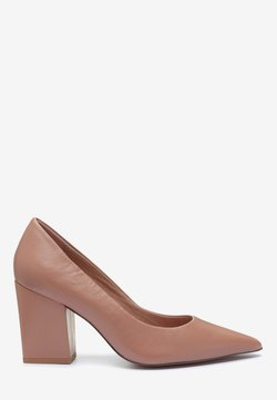 Next - LEATHER BLOCK COURTS - Pumps - nude