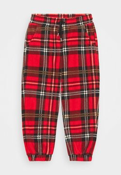Mini Rodini - BABY CHECK TROUSERS UNISEX - Broek - red