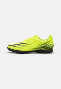 adidas Performance - X GHOSTED.4 TF - Astro turf trainers - solar yellow/core black/royal blue