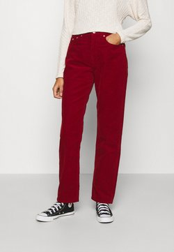 Tommy Jeans - HARPER STRAIGHT ANKLE - Pantalones - wine red