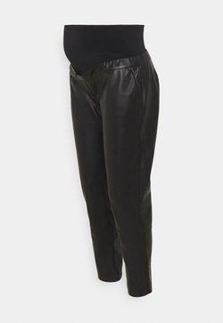 ATTESA - PANT MORBIDO PELLE - Pantalones - black