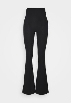 Hey Honey - FLARED PANTS - Jogginghose - black