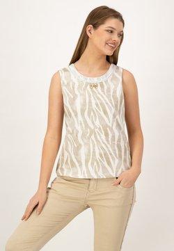 JUST WHITE - Bluse - beige druck