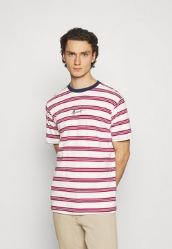 Mennace - CLASSIC HORIZONTAL STRIPE UNISEX - T-Shirt print - white/red