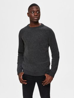 Selected Homme - Strickpullover - anthracite