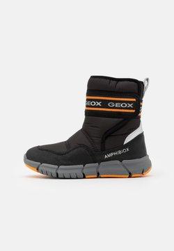 Geox - FLEXYPER BOY ABX - Snowboot/Winterstiefel - black/orange