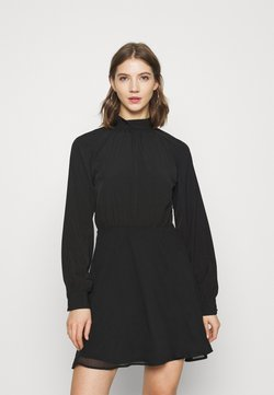 Nly by Nelly - HIGH NECK TIE DRESS - Cocktail dress / Party dress - black
