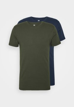 Levi's® - SLIM CREWNECK 2 PACK - Camiseta básica - deep depths/blues