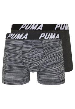 Puma - SPACEDYE STRIPE BOXER 2 PACK - Panties - black