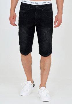 INDICODE JEANS - LEON - Shorts vaqueros - black