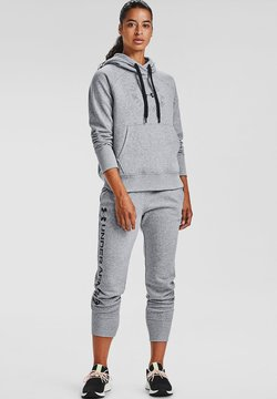 Under Armour - RIVAL FLEECE METALLIC - Kapuzenpullover - steel medium heather