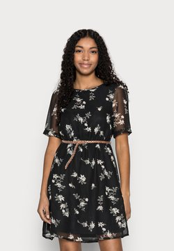 Vero Moda Petite - VMFALLIE BELT DRESS - Freizeitkleid - black