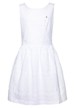Tommy Hilfiger - BRODERIE ANGLAISE DRESS  - Vestito elegante - white