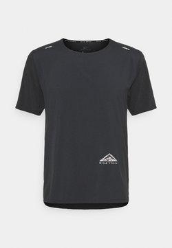 Nike Performance - TRAIL RISE - Funktionsshirt - black/silver