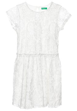 Benetton - DRESS - Vestito elegante - white/silver