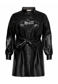 ONLY Carmakoma - Vestido camisero - black