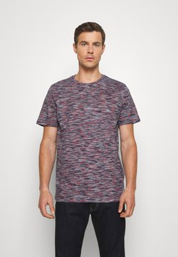 TOM TAILOR - T-Shirt print - navy/neon space