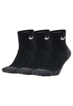 Nike Performance - CUSHION QUARTER TRAININGSSOCKEN (3 PAAR) - Chaussettes de sport - black