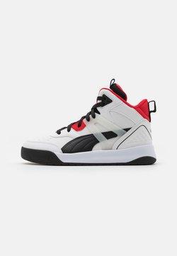 Puma - BACKCOURT MID UNISEX - Sneaker high - white/black/high risk red/silver