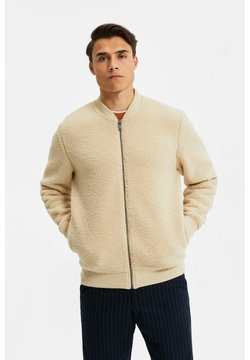 WE Fashion - Fleecetakki - beige