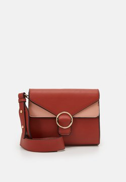 Pieces - PCTULLE CROSS BODY - Across body bag - burnt ochre/rose-gold-coloured