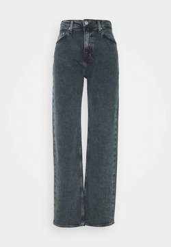 Calvin Klein Jeans - HIGH RISE LOOSE - Jeans baggy - washed blue/black