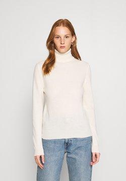 Benetton - TURTLE NECK - Strikkegenser - offwhite