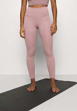 Nike Performance - THE YOGA LUXE 7/8 - Tights - smokey mauve/htr/(desert dust)