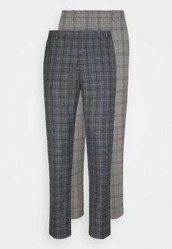 Burton Menswear London - CHECK 2 PACK - Stoffhose - navy