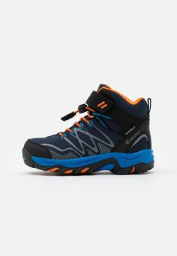 Hi-Tec - BLACKOUT MID WP JR - Outdoorschoenen - navy/orange/lake blue