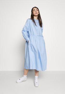 Monki - DRESS - Blusenkleid - light blue