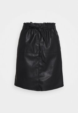 ONLY Tall - ONLRIGIE PAPER BAG SKIRT - Bleistiftrock - black
