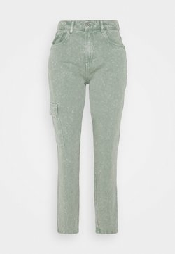 Noisy May - NMMABEL MOM POCKET ANKLE PANTS - Relaxed fit jeans - slate gray