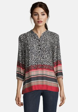Betty Barclay - MIT LEOPRINT - Bluse - black/camel