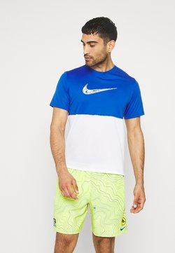 Nike Performance - BREATHE RUN  - T-shirt imprimé - game royal/white