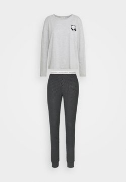 Benetton - TROUSERS SET - Pyjama - black/grey