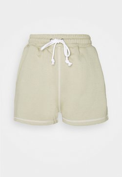 Missguided Petite - CONTRAST STITCH RUNNER - Shorts - sage
