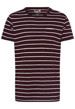 Nils Sundström - T-Shirt print - bordeaux weiß