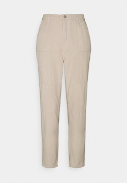 Missguided Petite - SEAMED WRATH - Straight leg -farkut - cream