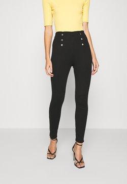 Anna Field - Punto leggings with button detail - Legging - black