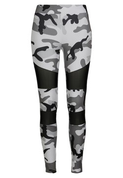 Urban Classics - TECH - Leggings - Hosen - snowcamo